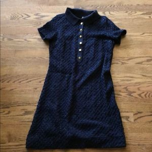Anthropologie MOTH navy with ribbon dress